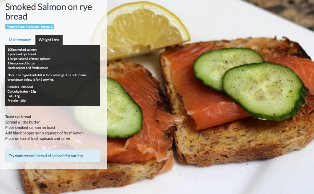 Salmon-on-rye-bread